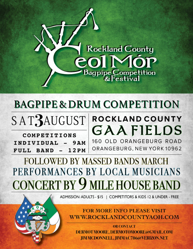 Ceol Mor Music Festival, August 3, 2019 at the Rockland GAA fields